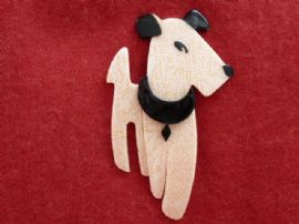 Ric the Terrier - 1950's Terrier Dog Brooch by Lea Stein of Paris (SOLD)
